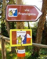 Via Francese Signpost (New)
