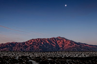 Red Mountain and Moon
