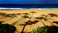 Shadows on Keiki Beach